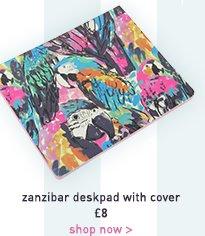 zanzibar deskpad with cover
