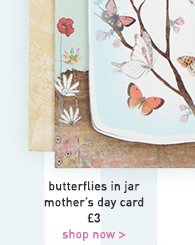 butterflies in jar mother's day card