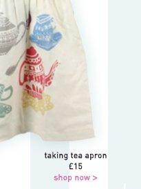 taking tea apron