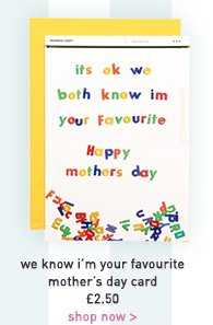 we know i'm your favourite mother's day card