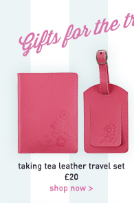 taking tea leather travel set