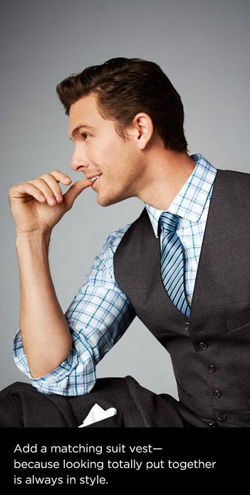 Add a matching suit vest—because looking totally put together is always in style.