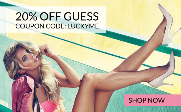 Save 20% Off Guess Shoes with Coupon Code LUCKYME