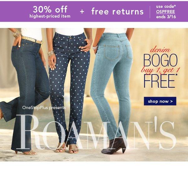 Shop Roaman's Denim BOGO