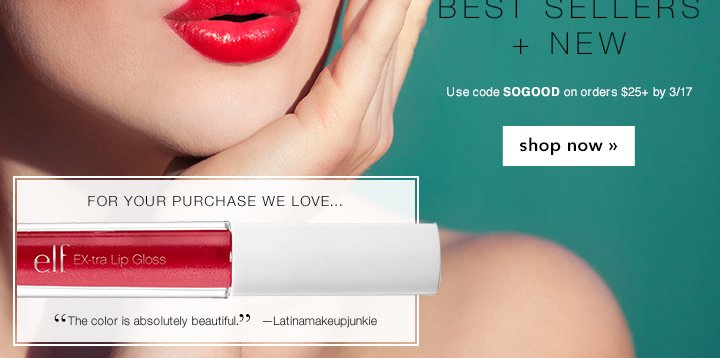Best Sellers + New Use Code: SOGOOD Shop Now!