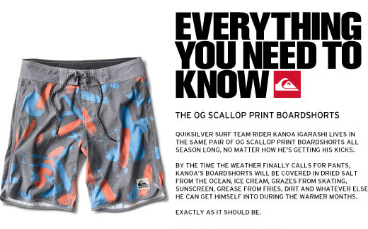 Everything you need to know - the OG Scallop Print Boardshorts