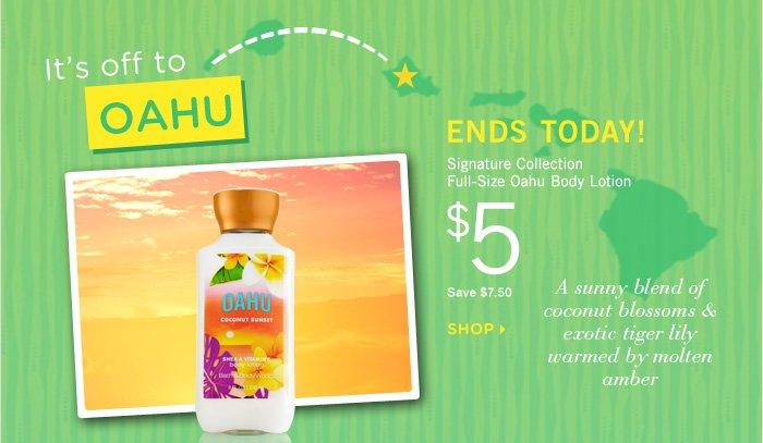 Oahu Body Lotion – $5