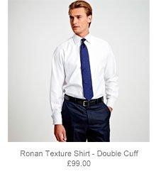Ronan Texture Shirt - Double Cuff