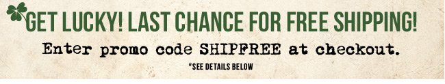 Free Shipping! To be sure, to be sure.