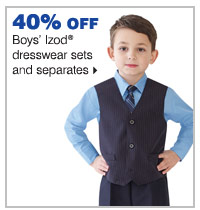 40% off boys' Izod® dresswear sets and separates.