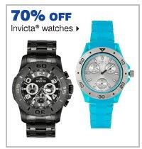 70% off Invicta® watches.