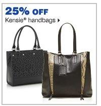 25% off Kensie® handbags.