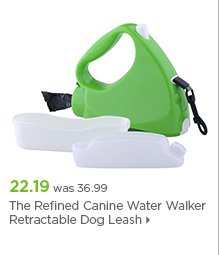 The Refined Canine Water Walker Retractable Dog Leash
