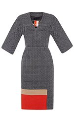 Prince of Wales Wool Dress