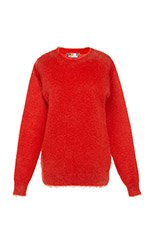 Coated Mohair Pullover