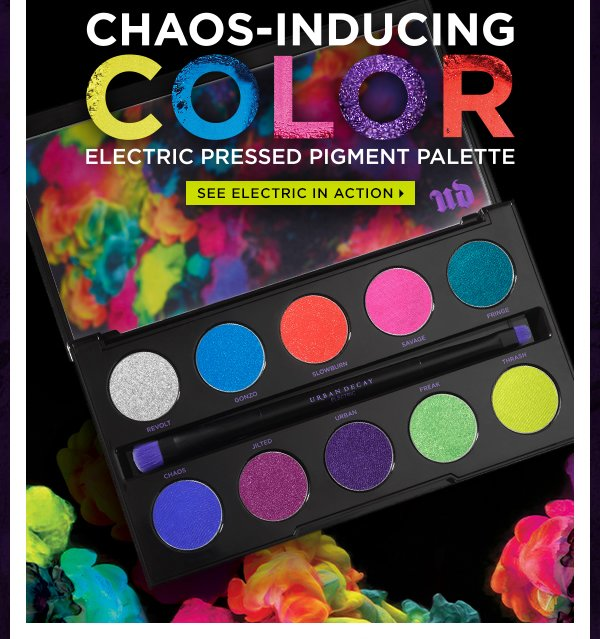 Chaos-inducing color. Electric Pressed Pigment Palette. See Electric in Action >