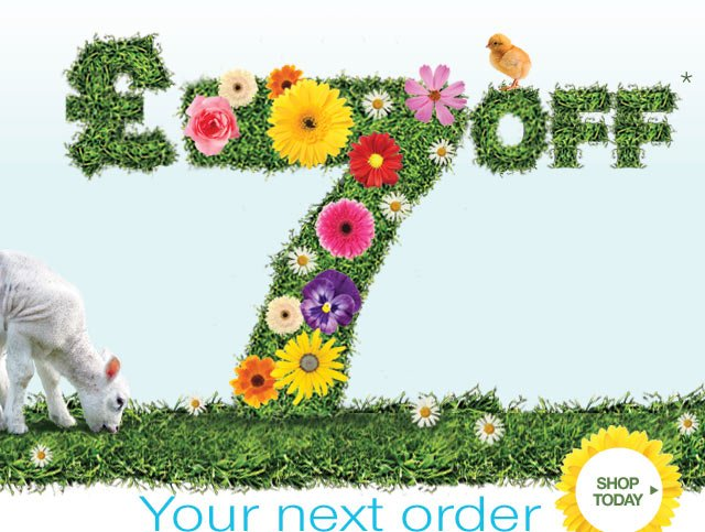 Spring has Sprung so celebrate with £7 off your next order - shop today