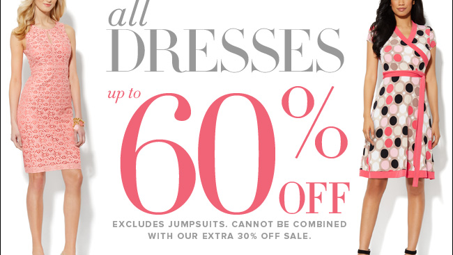 All Dresses up to 60% off!