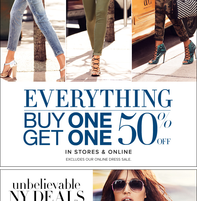 Everything is B1G1 50% off!