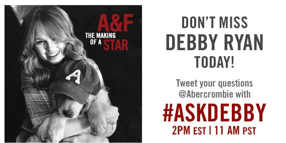 DON'T  MISS DEBBY RYAN TODAY!