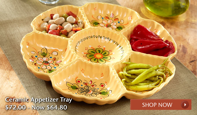 Ceramic Appetizer Tray - Was $72.00, Now $64.80 - Shop Now