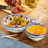 Colorful Olive Serving Dish