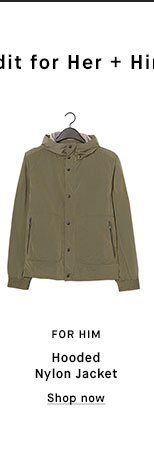 FOR HIM - Hooded Nylon Jacket - Shop now