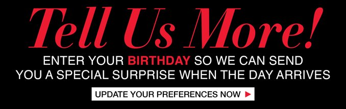 Tell Us Your Birthday.