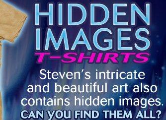 Steven Michael Gardner's Hidden Images T-Shirts.