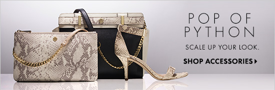 POP OF PYTHON Scale Up Your Look  SHOP ACCESSORIES
