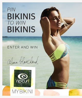 Pin Bikinis to Win Bikinis - Enter To Win - Alana Blanchard - My Bikini