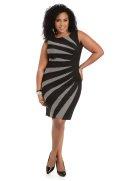 Dots & Sunburst Bodycon Dress