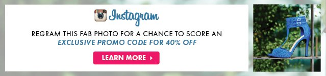 Instagram - Regram This Fab Photo For A Chance To A Score An Exclusive Promo Code 40% Off - Learn More
