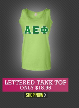 Lettered Tank Tops