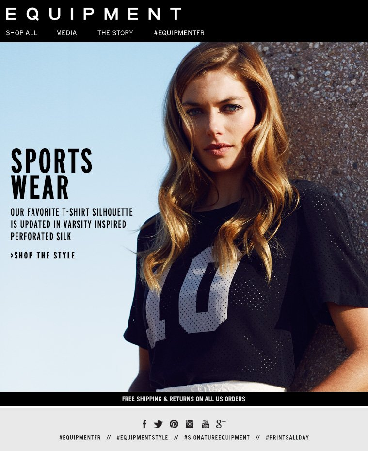 SPORTS WEAR OUR FAVORITE T-SHIRT SILHOUETTE IS UPDATED IN