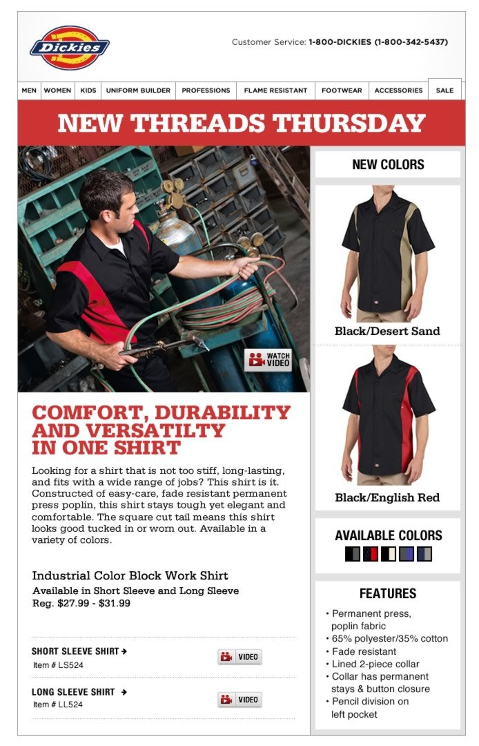 New Threads Thursday: Two-Toned Work Shirt - New Colors Available