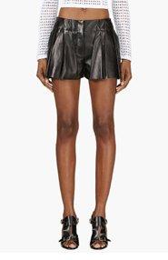 ALEXANDER WANG Black Lambskin Bloomer Shorts for women