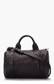 ALEXANDER WANG Black Leather Rocco Studded Duffle Bag for women