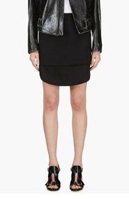 ALEXANDER WANG Black Layered Shirt Tail Skirt for women
