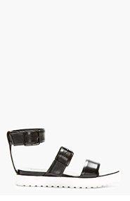 ALEXANDER WANG Black Leather Kira Sandals for women