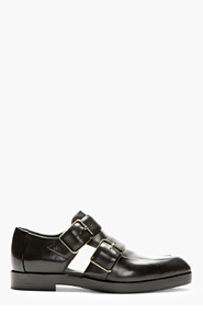 ALEXANDER WANG Black Leather Cut-Out Jacquetta Shoes for women