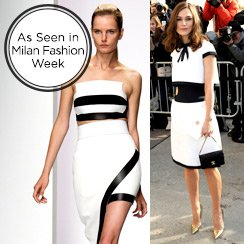 Milan Fashion Week Trend: Black & White