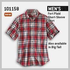 MEN'S FORT PLAID SHORT-SLEEVE SHIRT