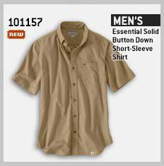 MEN'S ESSENTIAL SOLID BUTTON DOWN SHORT-SLEEVE SHIRT