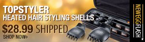 topstyler heated hair styling shells