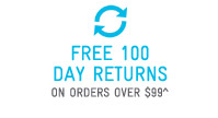 Free100 Day Returns On Orders Over $99^