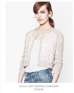 laila Lace Cropped Cardigan
