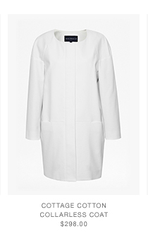 Cottage Cotton Collarless Coat