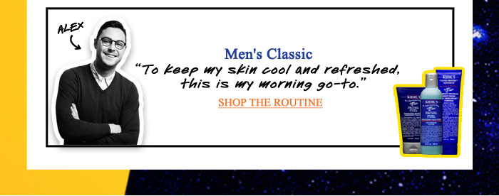 Men's Classic | To keep my skin cool and refreshed, this is my morning go-to. | - ALEX | SHOP THE ROUTINE
