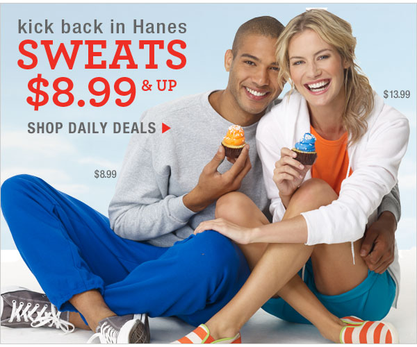 Daily Deals: Sweats $8.99 & up